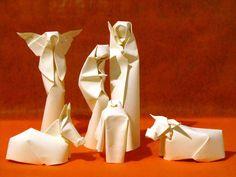como hacer un belén en origami - Google Search