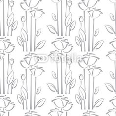 Vector: Floral seamless pattern with rose