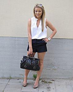 koszula b/r biała, czarne spodenki, szorty 2012 May | P.S. i love fashion - Part 6