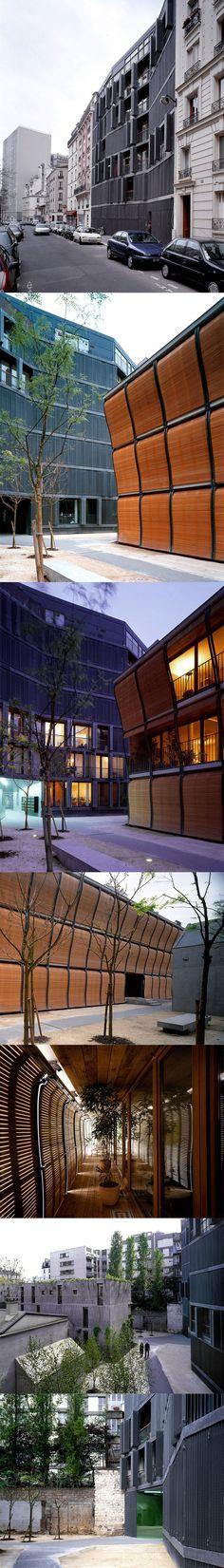 Herzog & de Meuron. Building, 17 rue des suisses Paris 75014