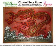 Handmade Chisel Box - Base Pyrograph by snazzie-designz on DeviantArt Japanese Dragon, Pyrography, Wells, Handmade Crafts, Base, Deviantart, Woodburning, Cubes, Artwork