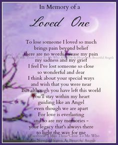 in memory of lost love one   In Memory Of A Loved One   My son,my Angel in Heaven