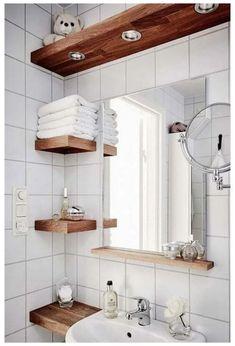 Small Bathroom Storage, Bathroom Design Small, Bathroom Interior Design, Toilet Storage, Bathroom Organization, Bathroom Shelves, Small Storage, Bathroom Designs, Interior Ideas