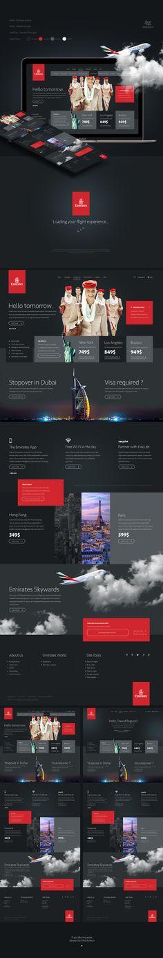 Emirates Airlines Website Concept / Four Zero Studio on Behance