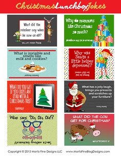 Do your kids love to get surprises in their lunchbox? Use these fun Christmas Lunchbox Jokes to put in their lunch. All their friends love them too!