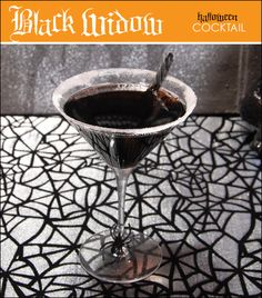 Black Widow Martini and Screwed Up Shooters- halloween cocktails.