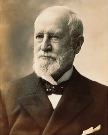 Charles Lewis Tiffany (February 15, 1812 – February 18, 1902) founded Tiffany & Co. in New York City in 1837. A leader in the American jewelry trade in the nineteenth century, he was known for his jewelry expertise, created the country's first retail catalog, and, in 1851, he introduced the English standard of sterling silver. His son, Louis Comfort Tiffany, was a decorative glass and lamp designer famous for his stained glass windows and art glass
