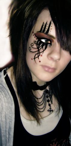Image detail for -gothic eye make up2 by jaqalynn traditional art body art cosmetic ...