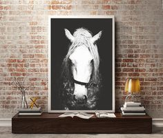 Black & White Horse PhotographyHorse Wall DecorHorse by pomelorice
