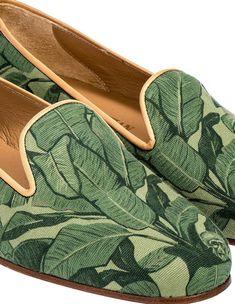 Stubbs Wootton Banana Leaf Slippers