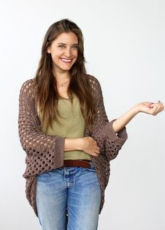 Movie Night Cocoon Cardi Pattern by Two of Wands