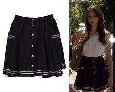 TopShop Sailor skirt - Spencer Hastings Style
