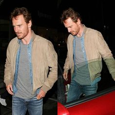 """Michael and X-Men producer, Simon Kinberg had dinner at """"Madeo"""" restaurant ( a traditional Italian cuisine ) in Los Angeles, California last night.  Source: Beatfassbender on Twitter #MichaelFassbender #Fassy #Fassbender"""