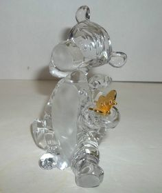 Lenox Lead Crystal Tigger Figurine with Gold Butterfly Disney