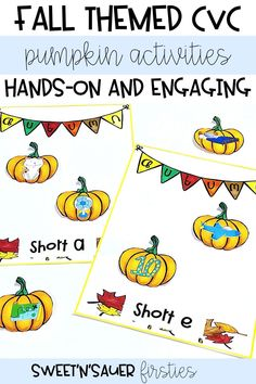 Try my short vowel reading activities for your reading centers! These are fall themed, and cover every short vowel. My resource is a great way for your kindergarten or first grade students to work on phonics in a fun and engaging way. One of the best parts is that this is easy to prep!