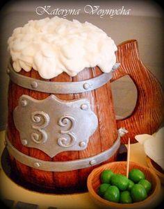 Tarta jarra de cerveza
