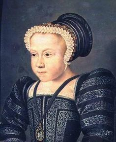 1578 Marie Elisabeth of Valois by François Clouet (location unknown to gogm) was the only child of Charles IX of France and Elisabeth of Austria by Clouet APFxAlexandrina-Sofia 25Jul11