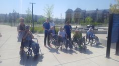 Our residents from our memory care unit, the Reflections Neighborhood, went to Central park in Maple Grove to enjoy some sunshine!