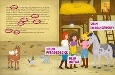 Bibi & Tina und ich - Reiterferien auf dem Martinshof. Ein personalisierbares #Kinderbuch von framily. #bibiundtina #geschenkidee #framily #pferdebuch #pferdemädchen