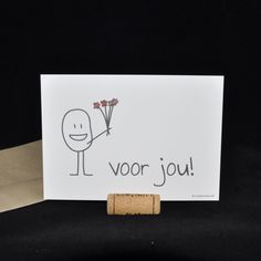 voor jou | Kaartjes | Studio Woulie Secret Santa, Diy Cards, Thank You Cards, Graffiti, How To Draw Hands, Best Gifts, Doodles, Greeting Cards, Xmas