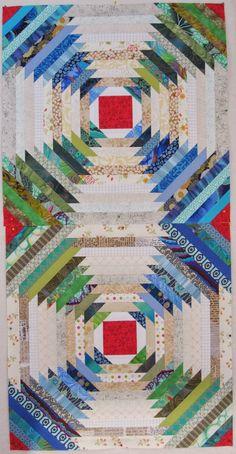 green & blue pineapple quilt blocks, from cheeky cognoscenti blog