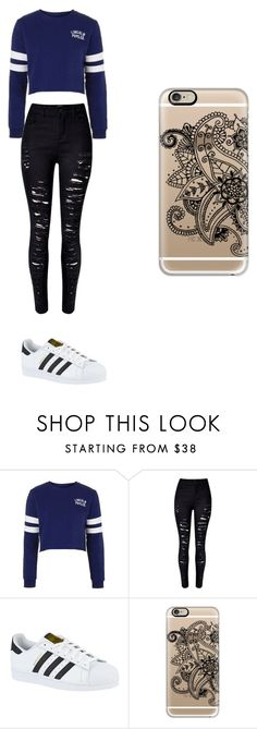 """Sin título #182"" by karenrodriguez-iv on Polyvore featuring moda, Topshop, WithChic, adidas y Casetify"