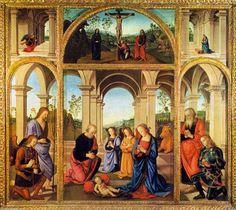 'Polittico Albani Torlonia', tempera di Pietro Vannucci (1446-1523, Italy)