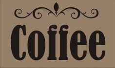 COFFEE Sign Stencils COFFEE 3 Sizes Available  por SuperiorStencils