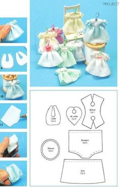 Patterns for miniature childs clothes in 1/12 scale