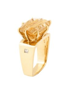 H.Stern 18k Yellow Gold Sunrise Collection Quartz Ring at London Jewelers!