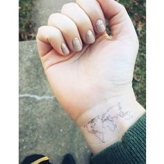 Featuring the World Map tattoo from our Etsy Shop