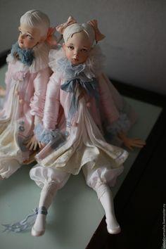 """Купить Подвижная кукла """"Зефирка"""" - бледно-розовый, розовый, нежность, кукла ручной работы, кукла"""