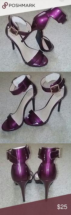 Selling this 👠Sexy Burgundy Stilettos with Ankle Strap💥 on Poshmark! My username is: llashane. #shopmycloset #poshmark #fashion #shopping #style #forsale #Shoes