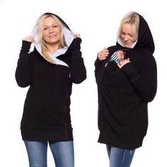 Baby Carrier Sweatshirt Multifunktions 3 In 1 Frauen Mutterschaft Sleeveless Weste Fleece K/änguru Tasche Mantel Jacke F/ür Schwangere Baby Wearing Baby Halter
