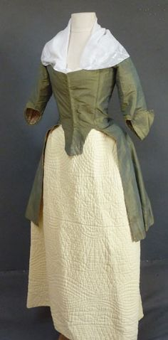 Green Silk Caraco, ca. 1770s