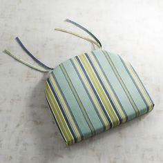 Dining Chair Cushion In Sullivan Stripe Blue