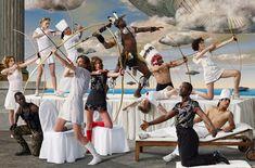 Tableau vivant: AES+F Allegoria #8 (The War of the Worlds) http://www.artmuseum.uq.edu.au