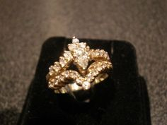 1.05ct 14k YG Marquise Shape Diamond Ring!  #SolitairewithAccents