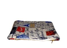 Stamped Postcard Patterned Zippered Pouch #fashion #handmadeholiday