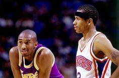Kobe Bryant & Allen Iverson. Circa1997.