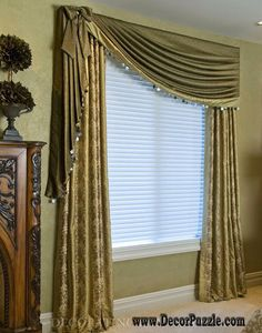 luxury classic curtains designs and drapes with blinds 2015, green curtains