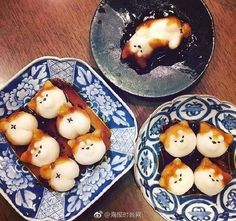 """Meng to let people just take pictures on the """"life is complete,"""" the Japanese """"Chai dog small balls""""! Cute Snacks, Cute Desserts, Japanese Sweets, Japanese Food, Bento, Cute Baking, Kawaii Dessert, Good Food, Yummy Food"""