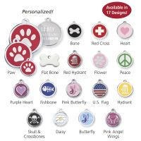 Stainless Steel with Enamel Pet ID Tags