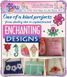 Shop machine embroidery designs for shabby-chic projects, to sophisticated, from Enchanting Designs!