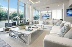 Living in an apartment, or in an older home with tiny rooms, can present a challenge: how to make your limited space seem larger. Try these 80 Stunning Modern Apartment Living Room Decor Ideas And Remodel. Coastal Living Rooms, Living Room Interior, Home Interior, Living Room Furniture, Living Room Decor, Interior Design, Living Area, Coastal Interior, Coastal Furniture