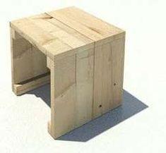 Afwerking voor een bijzettafel van steigerhout met houtolie.