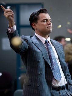 Leonardo DiCaprio as Jordan and Margot Robbie as Naomi in The Wolf of Wall Street 2013