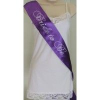 The bachelorette will be ready for a wild night on the town with this fun, sparkle-filled rhinestone sash made with Crystal rhinestones.
