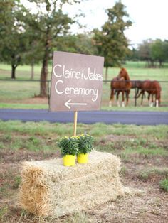 9. Point the way with DIY signs Cute handmade signs are an easy, budget-friendly way to direct guests along the way.