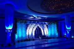 Stage Decoration with Blue Light Theme